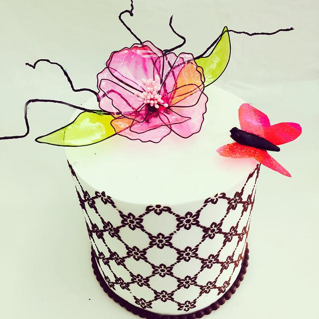 Gelatin flower cake