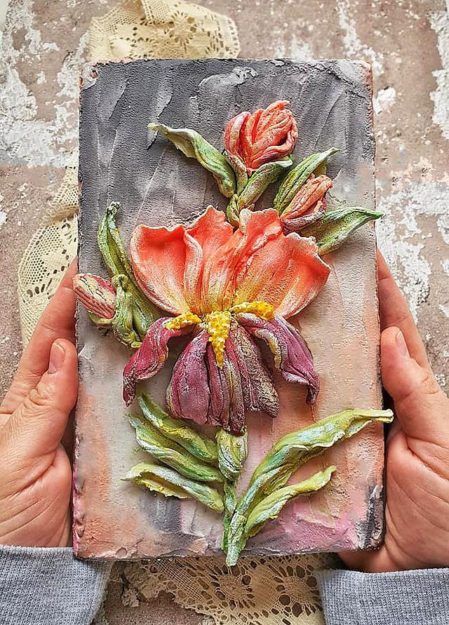 Edible sculpture flowers painting
