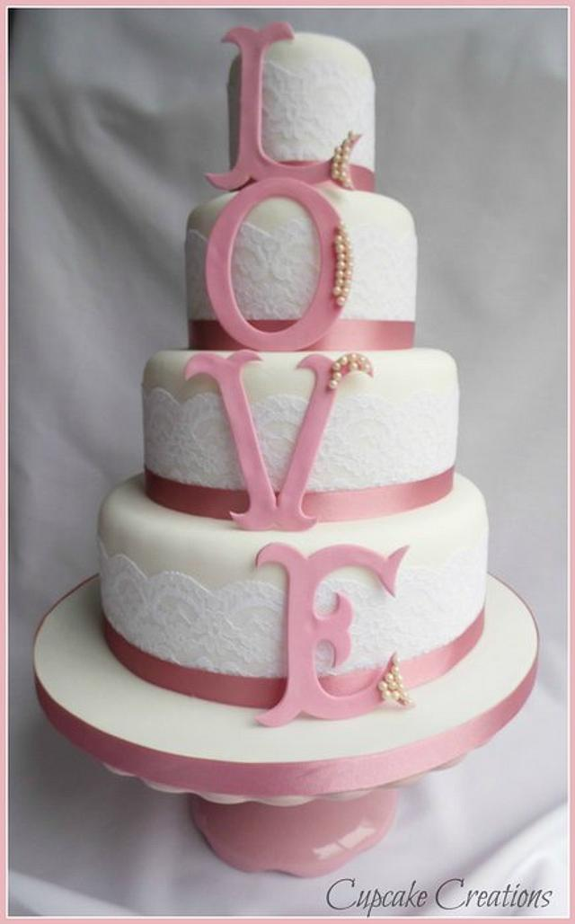 Love Letters wedding cake