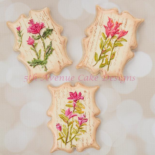 Vintage Dimensional Wildflower Cookies