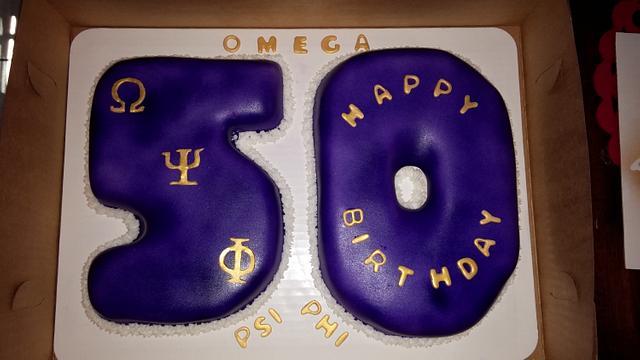 Sensational Omega Psi Phi Cake By Chrystal Morgan Cakesdecor Funny Birthday Cards Online Elaedamsfinfo