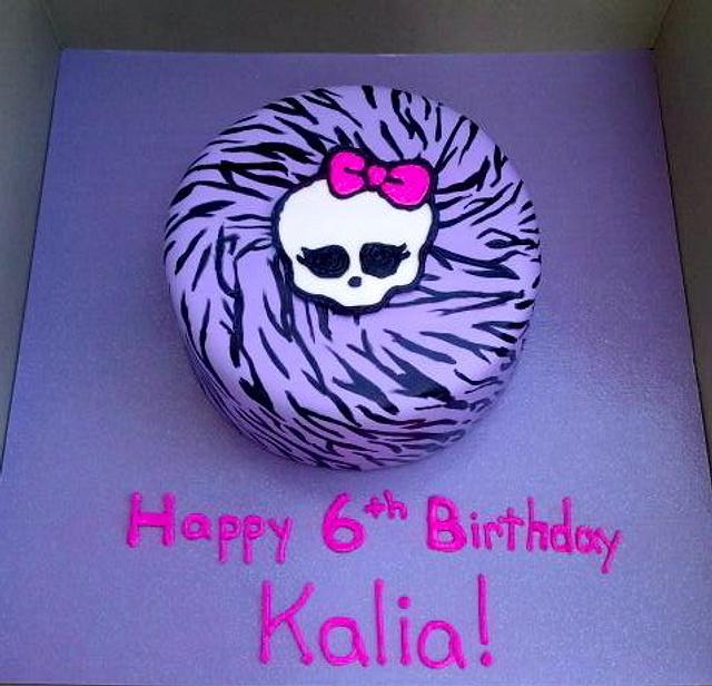 Monster High Clawdeen Wolf cake