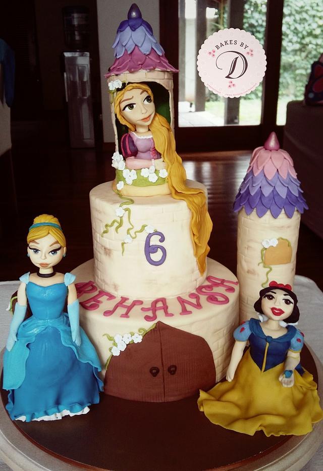 Princess Castle Themed Cake