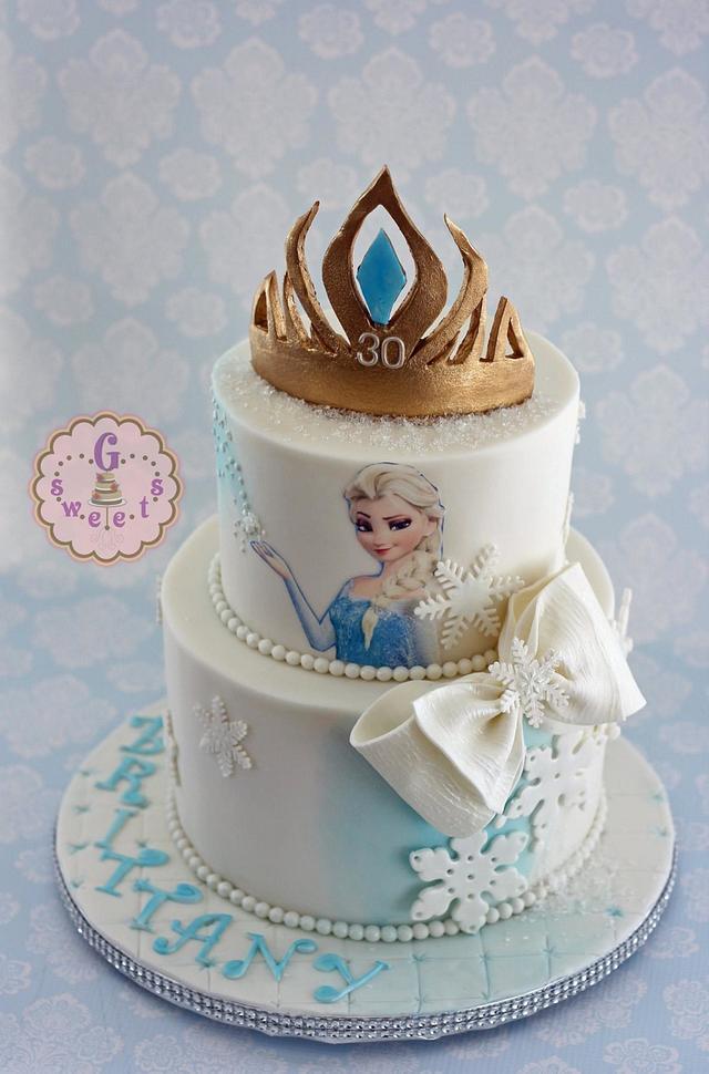 Surprising Frozen Milestone Birthday Cake Cake By G Sweets Cakesdecor Personalised Birthday Cards Epsylily Jamesorg