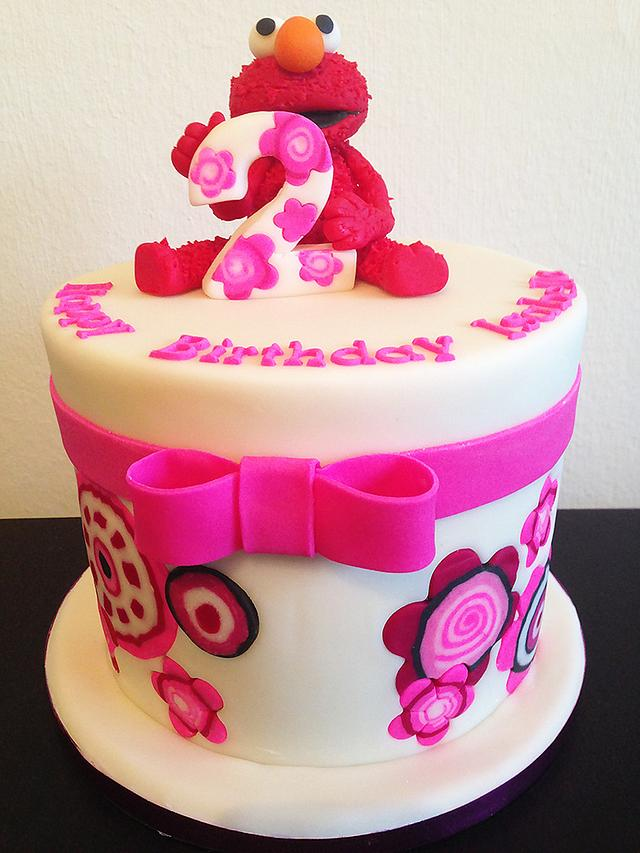 Admirable Elmo Birthday Cake Cake By Unas Cake Studio Cakesdecor Personalised Birthday Cards Veneteletsinfo