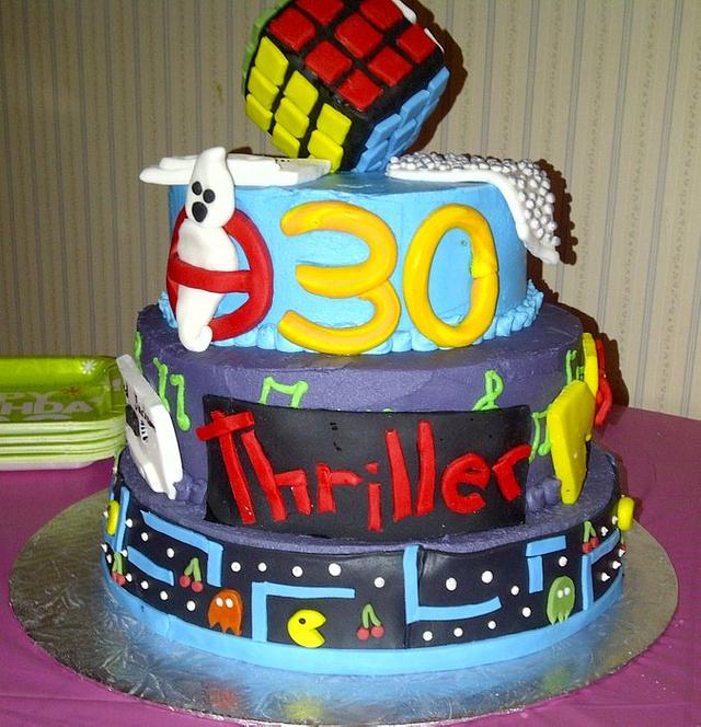 Magnificent 80S Themed Cake Cake By Suzanne Brown965 Cakesdecor Funny Birthday Cards Online Barepcheapnameinfo