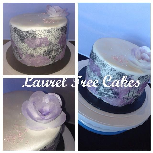 Wafer Paper Decoupage Cake
