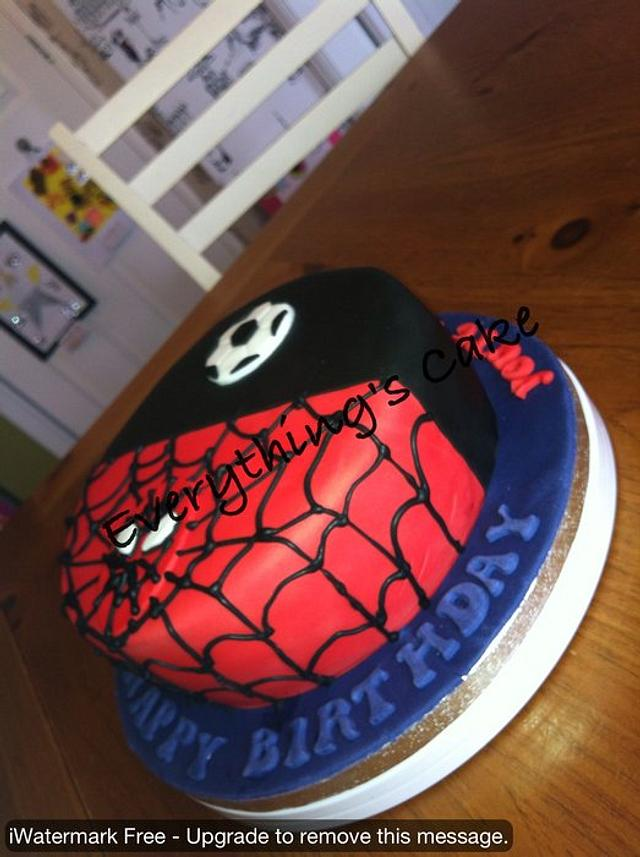 Football and Spiderman....24 hours from brief to delivery!!
