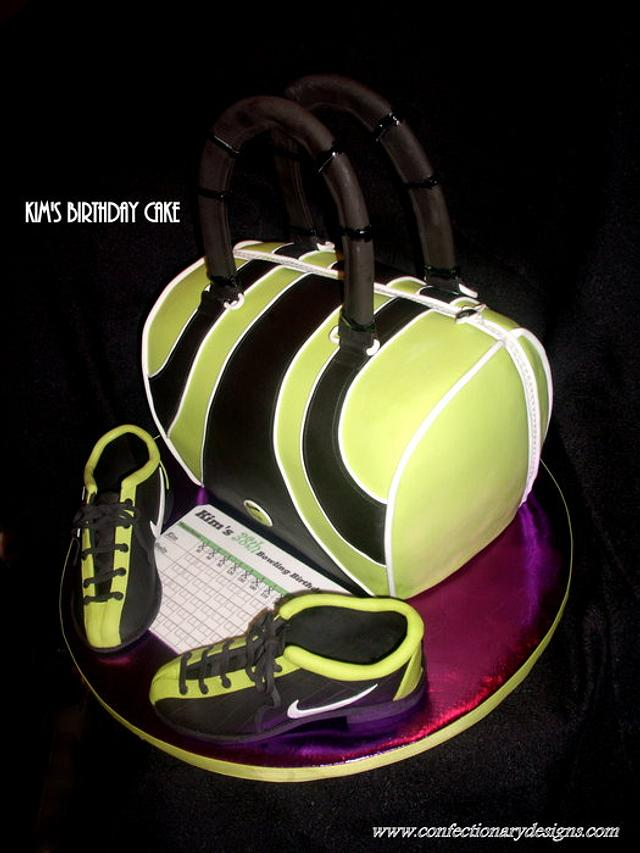 Bowling Bag & Shoes Cake