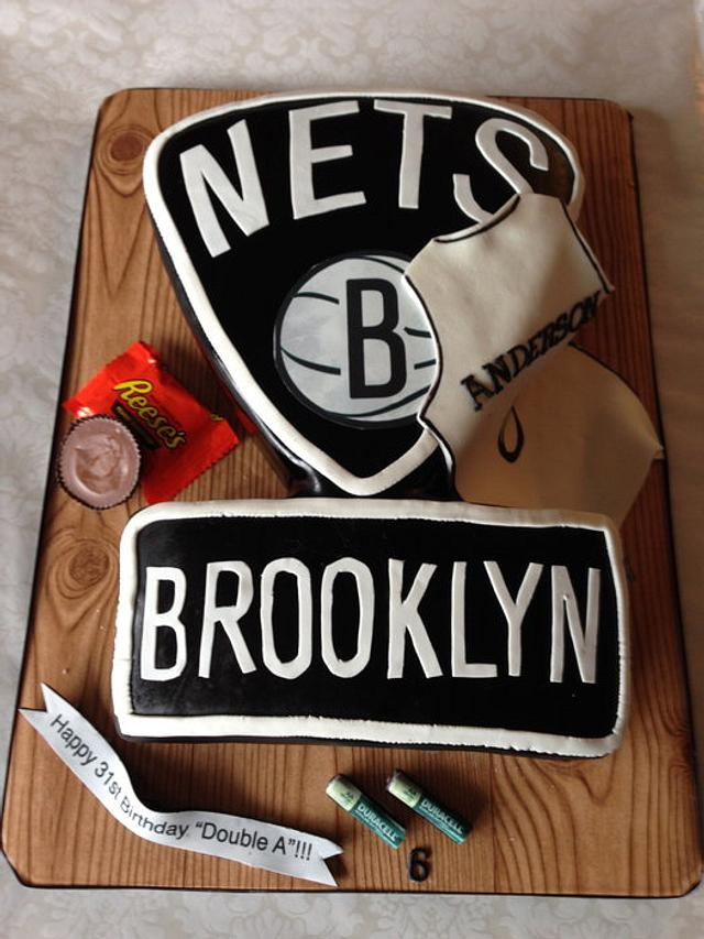 Peachy Birthday Cake For Alan Anderson Of The Brooklyn Nets Cakesdecor Personalised Birthday Cards Veneteletsinfo