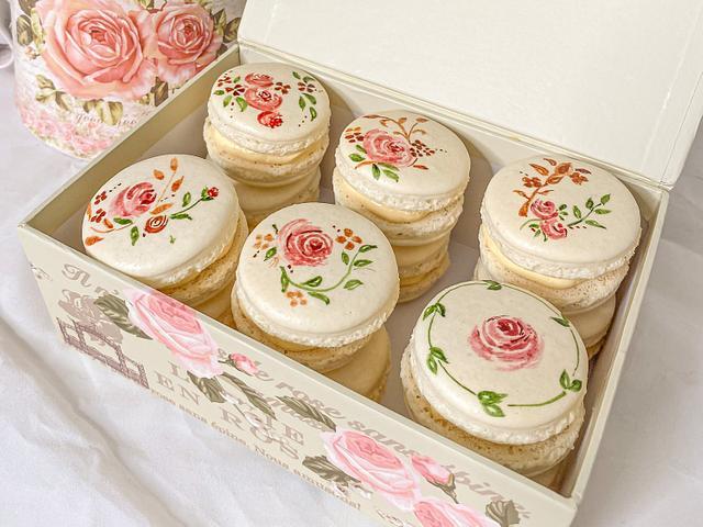 Handpainted Macarons
