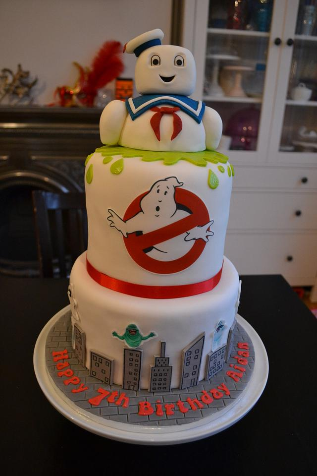 Peachy Ghostbusters Stay Puft Birthday Cake Cake By Klis Cakesdecor Funny Birthday Cards Online Alyptdamsfinfo