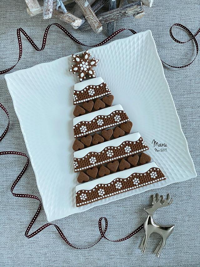 Embossed Christmas Cookie Platter 2019