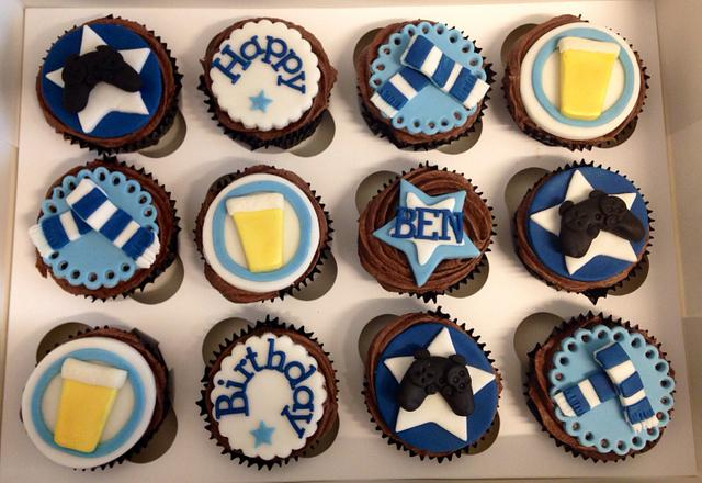 Wondrous Mens Birthday Cupcakes Cake By Caron Eveleigh Cakesdecor Funny Birthday Cards Online Inifofree Goldxyz