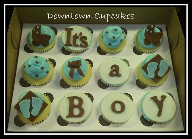 It's A Boy Cupcake Box