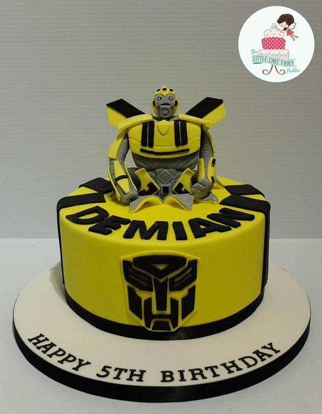 Surprising Bumblebee Transformers Cake Cake By Little Cake Fairy Cakesdecor Personalised Birthday Cards Paralily Jamesorg