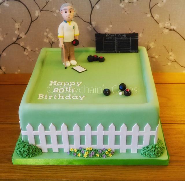 Bowls 80th birthday cake