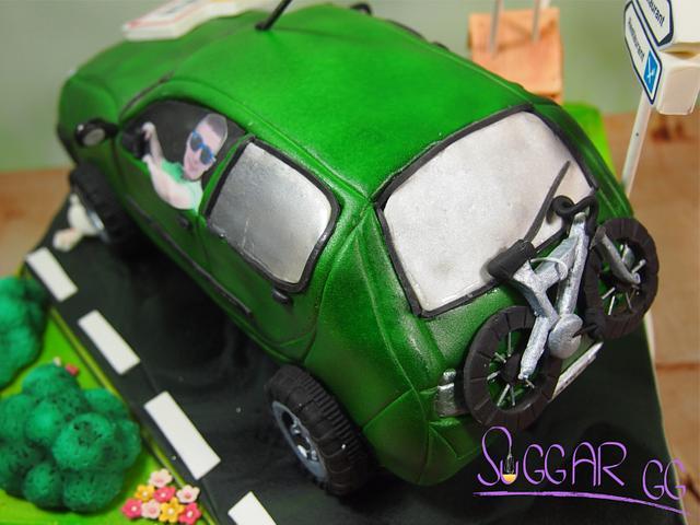 French Car Cake