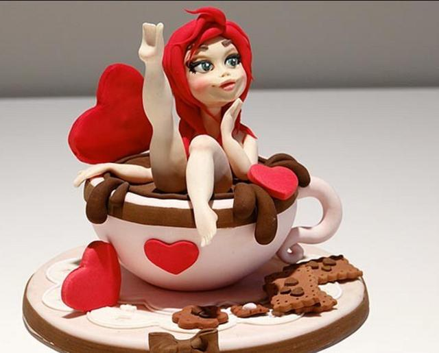 Pin up cake topper
