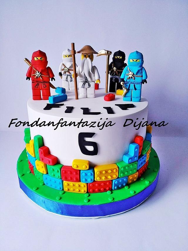 Awe Inspiring Lego Ninjago Themed Cake Cake By Fondantfantasy Cakesdecor Personalised Birthday Cards Beptaeletsinfo