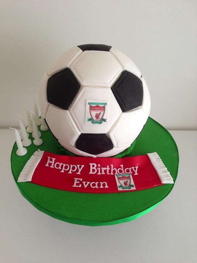 Astonishing Soccer Ball Birthday Cake Cake By Priscillas Cakes Cakesdecor Funny Birthday Cards Online Overcheapnameinfo