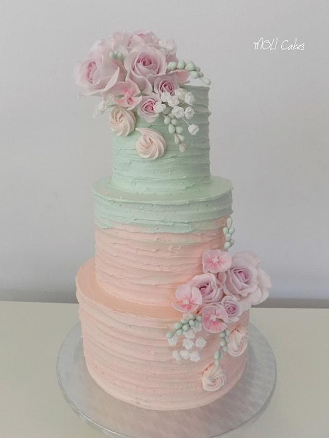 Pink and mint