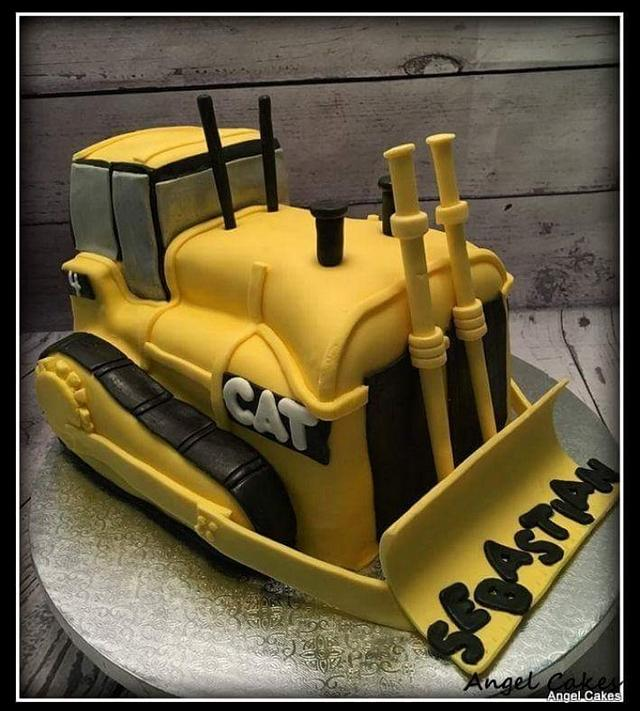 Astonishing Bulldozer Birthday Cake Cake By Angel Rushing Cakesdecor Personalised Birthday Cards Beptaeletsinfo