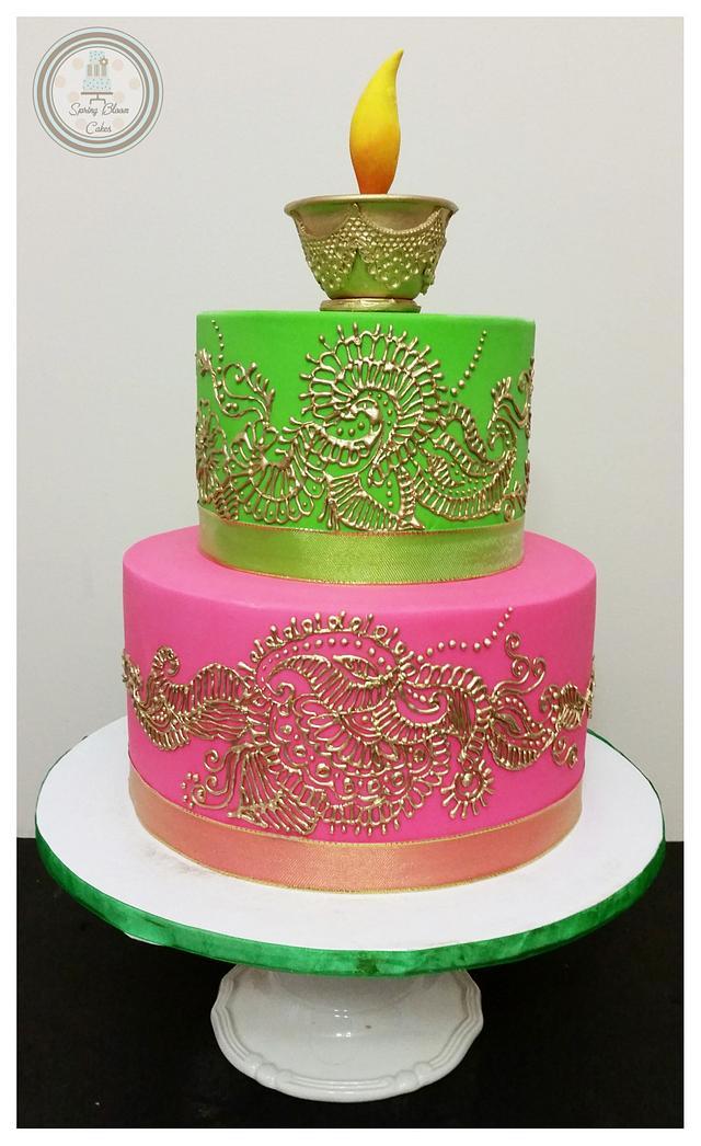 Mehendi/Henna Cake