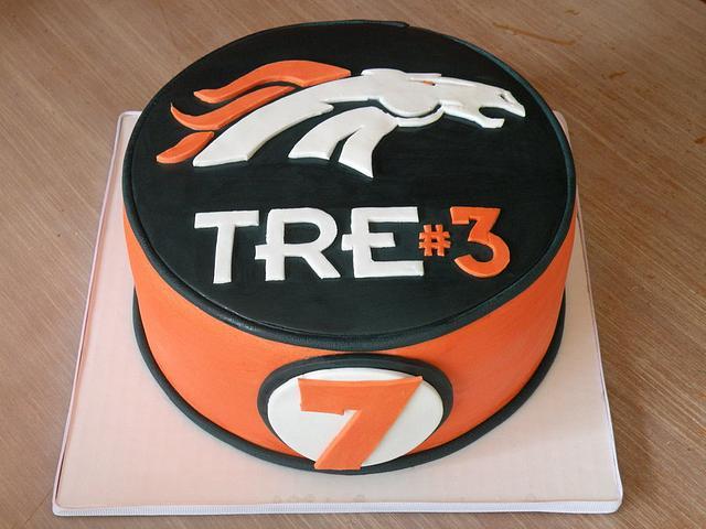 """stallions"" football team themed birthday cake"