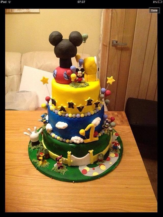 Micky mouse clubhouse inspired cake