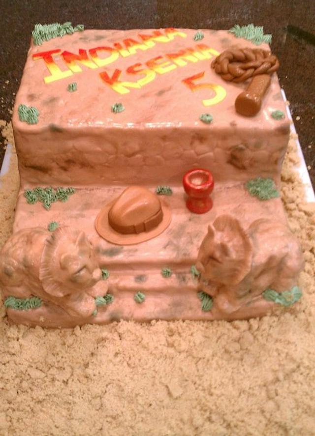 Super Indiana Jones Birthday Cake Cake By Pastrychefjodi Cakesdecor Funny Birthday Cards Online Inifodamsfinfo