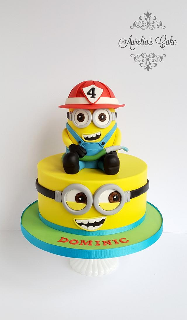 4th birthday Minion Cake