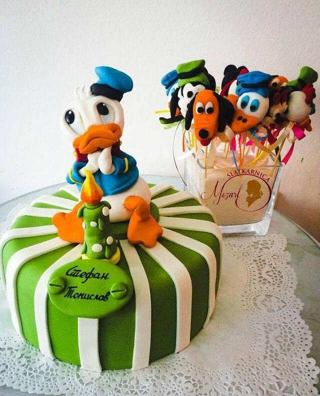 Fabulous Donald Duck Birthday Cake Cake By Mocart Dh Cakesdecor Funny Birthday Cards Online Elaedamsfinfo