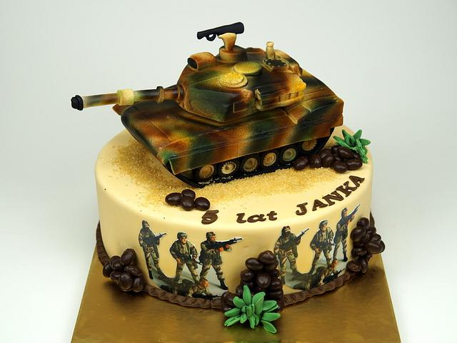 Outstanding Abrams Tank Birthday Cake Cake By Beatrice Maria Cakesdecor Birthday Cards Printable Riciscafe Filternl