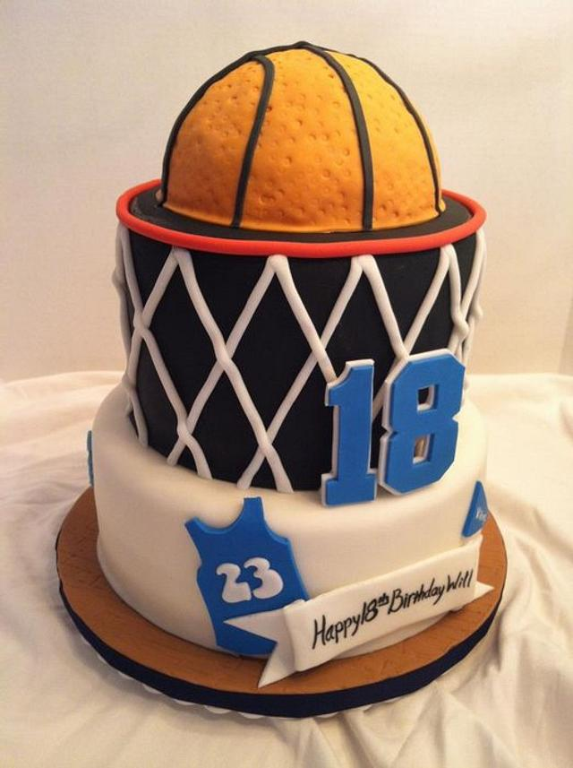 Wondrous Basketball Birthday Cake Cake By Becky Pendergraft Cakesdecor Funny Birthday Cards Online Aeocydamsfinfo