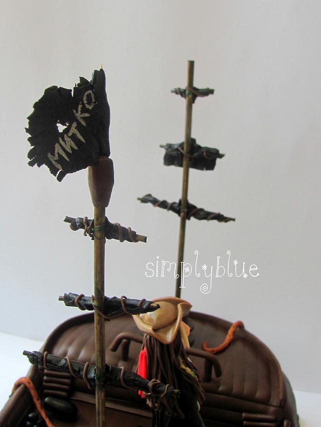 Caribbean pirates cake