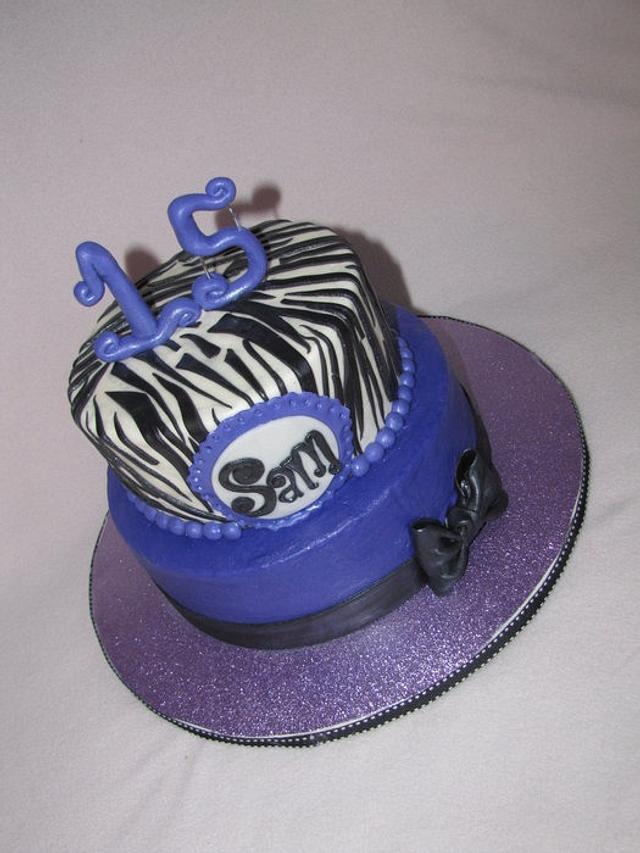 Royal purple and zebra print