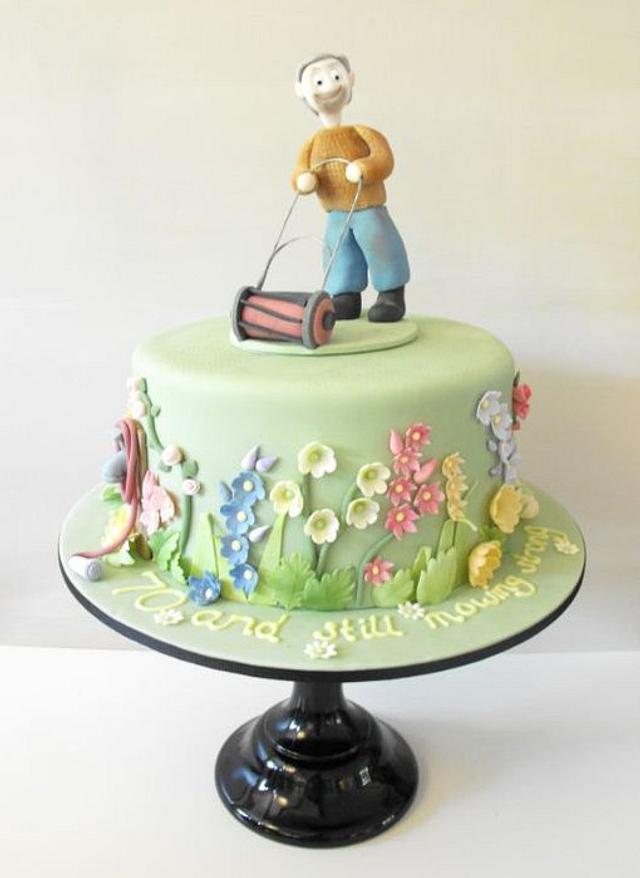 Pleasant 70Th Birthday Cake With English Country Garden Cake By Cakesdecor Funny Birthday Cards Online Elaedamsfinfo