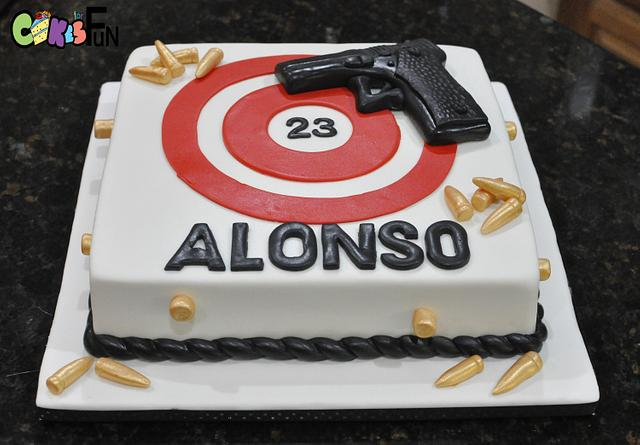 Wondrous Target Practice Cake By Cakes For Fun Cakesdecor Funny Birthday Cards Online Alyptdamsfinfo