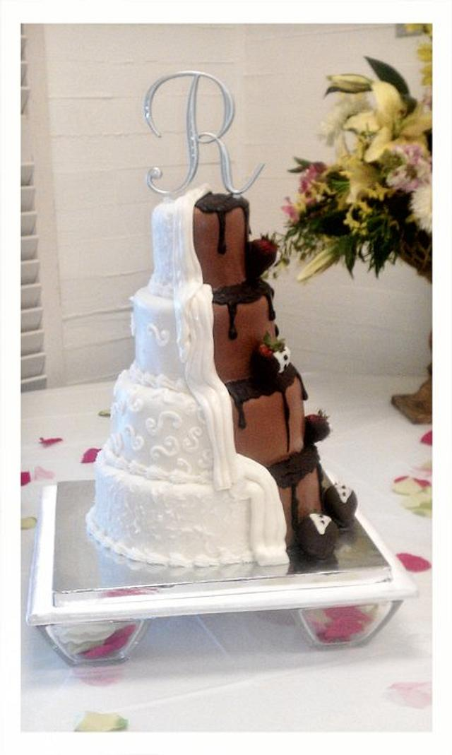 My First 4 tier wedding cake