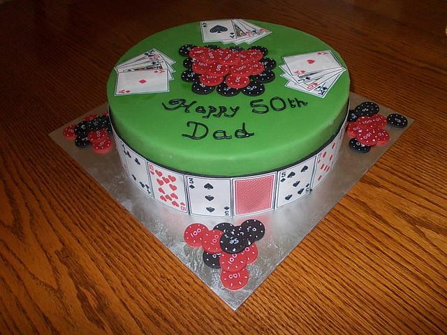 another birthday poker cake