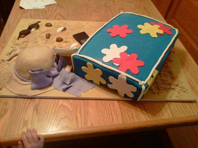 Beach Bag Birthday Cake