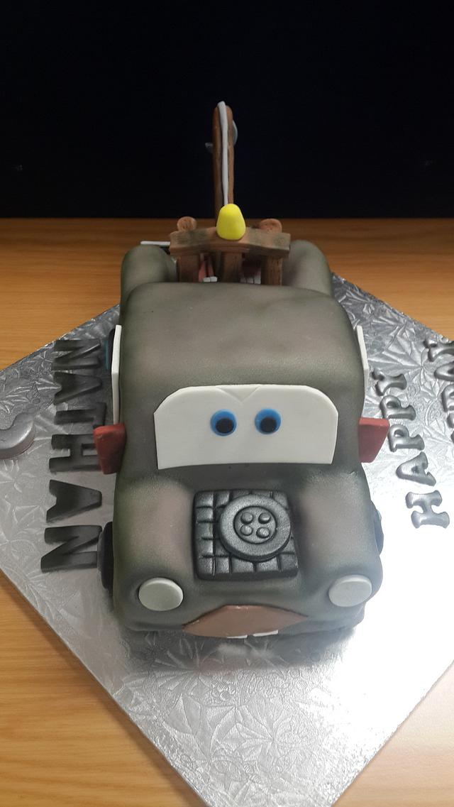 Awe Inspiring Tow Mater Cake From Cars Cake By Rencias Creations Cakesdecor Funny Birthday Cards Online Benoljebrpdamsfinfo