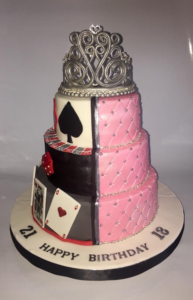 Joint birthday. Poker and princess theme