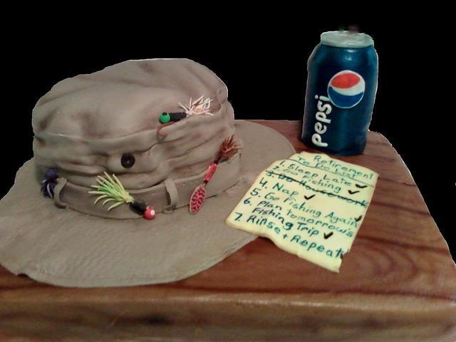 Retirement cake for Pepsi Employee