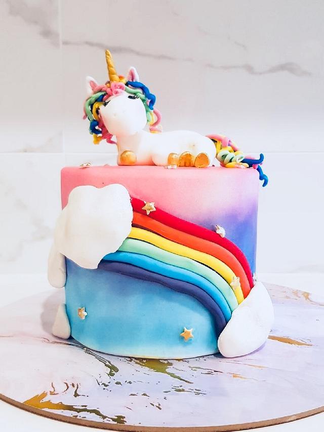 Astounding Unicorn Birthday Cake Cake By Cakesters Cakesdecor Birthday Cards Printable Inklcafe Filternl