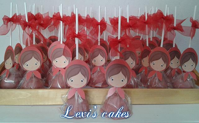 little red riding hood cake pops