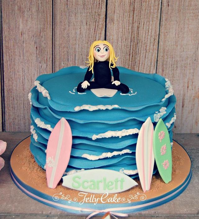 Admirable Surfing Fun Birthday Cake And Dessert Table Cake By Cakesdecor Funny Birthday Cards Online Elaedamsfinfo
