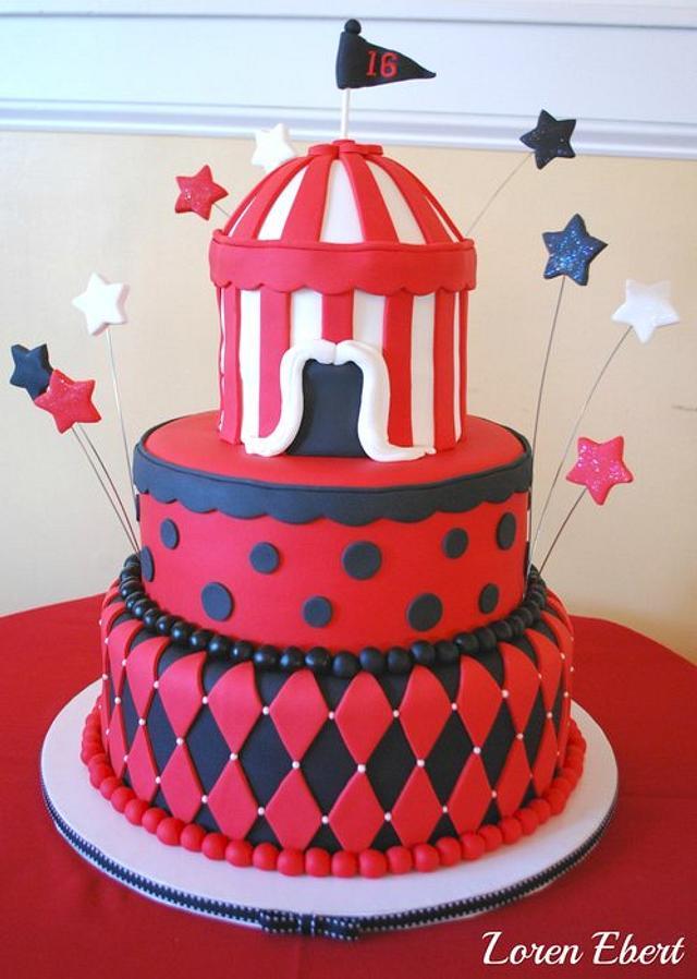 Vintage Circus Cake!