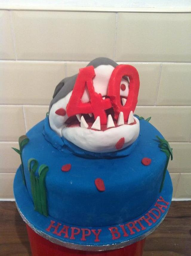 Jaws 40th Birthday Cake